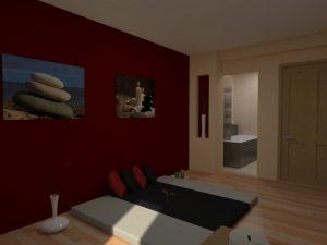 3D vizualizace masérna - tantrické masáže Pardubice